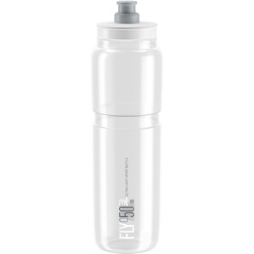 Elite Fly Trinkflasche 950ml clear/graues logo